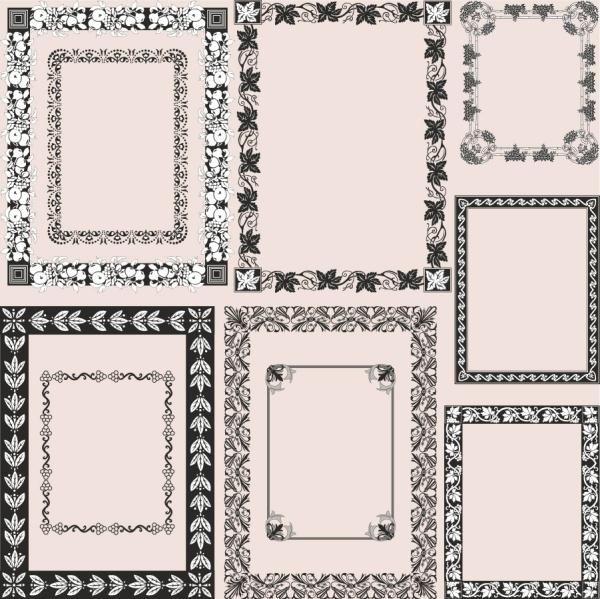 欧式花纹边框,ps欧式边框花纹素材
