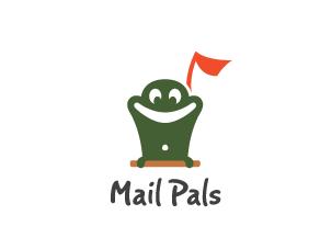 logo设计 青蛙邮筒很可爱呢