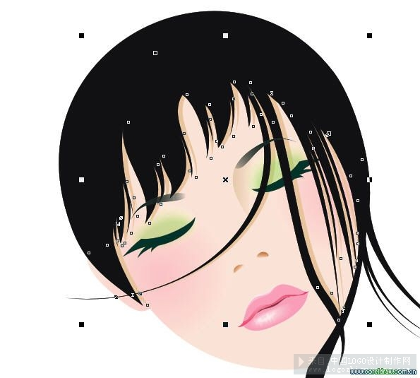 绘制卡通美女插画图片