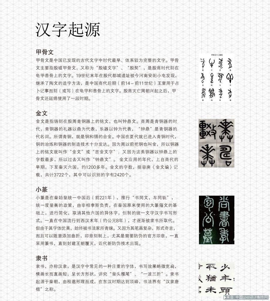 标志教程 汉字起源
