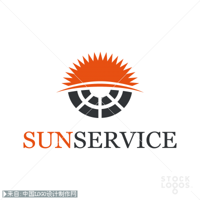 太阳服务 绿色能源logo设计欣赏