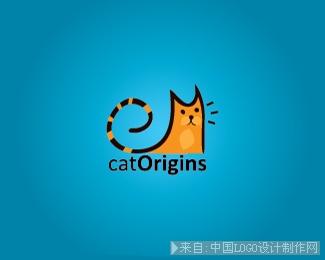 极简以猫为创意logo标志设计欣赏