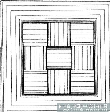 或在曲直和方圆之间有规律地组合与变化,还可以创造出许复杂的构成和